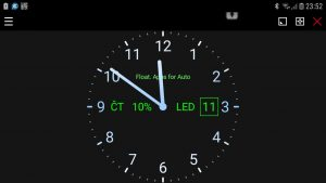 Analog clock for Floating Apps for Auto