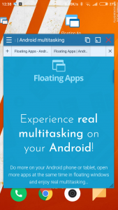 Floating Browser tabs