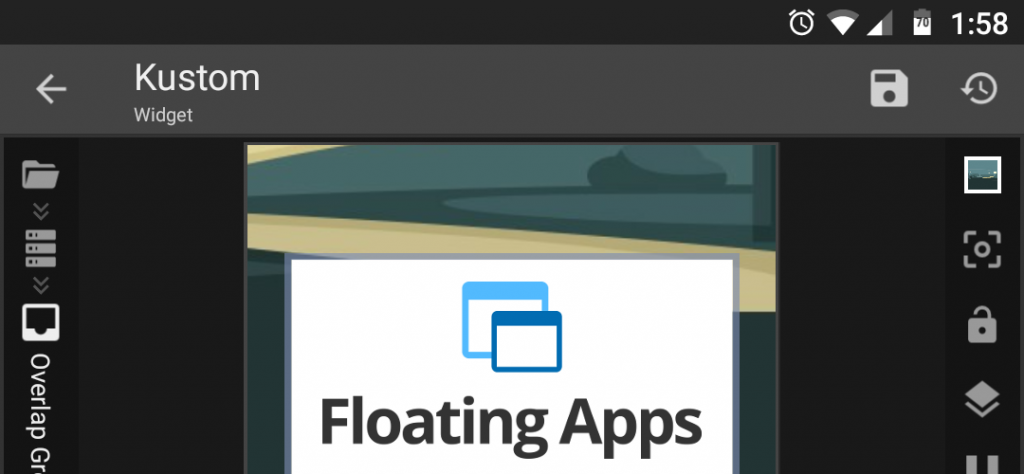 Kustom + Floating Apps - play nicely together!