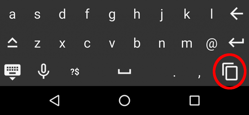 Floating Apps for Auto: Copy feature in the floating keyboard