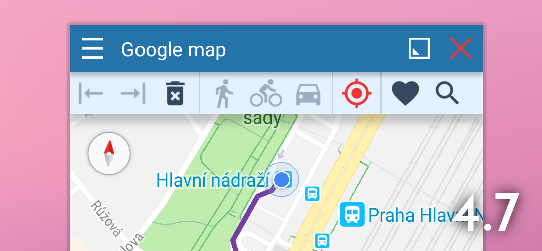 Floating Google Maps