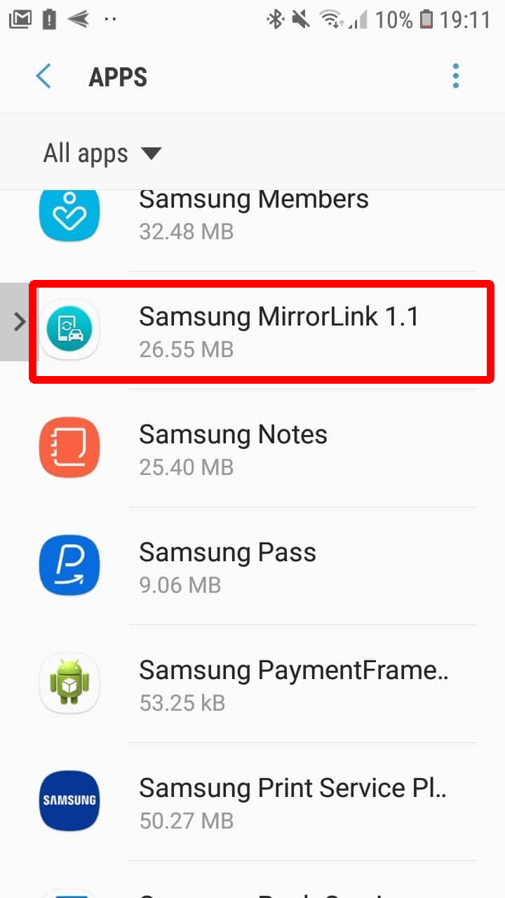 How to fix MirrorLink on Samsung with Android 9 – Floating Apps